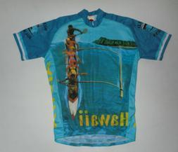 WORLD JERSEYS 1/2 Zip Hawaiian CYCLING Jersey HAWAII Aloha K