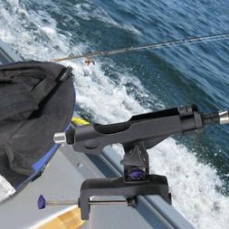 1/2X Adjustable Boat Fishing Pole Rod Holder Clamp-on Rail 4