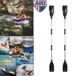 1 Pair Aluminum Alloy Detachable Afloat Kayak Oars Paddles B