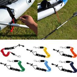 1 Pcs Elastic Paddle Fishing Leash Safety Rod Coiled Lanyard
