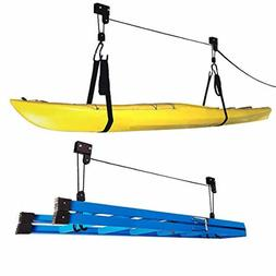 1004 Kayak Hoist Lift Garage Storage Canoe Hoists 125 lb Cap