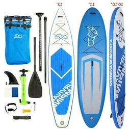 10Ft 11Ft 12Ft Inflatable SUP Stand Up Fin Paddle Board & Ka