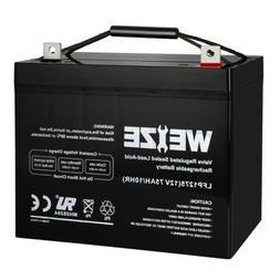 Weize 12 Volt 75AH Deep Cycle Battery SLA AGM For Mini Kota