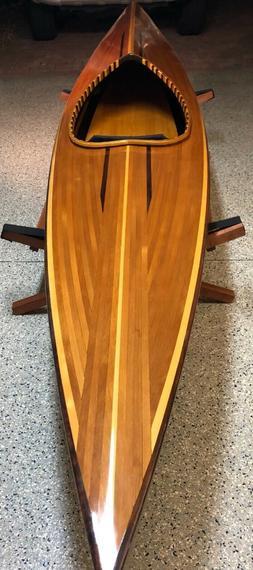 14' hand built cedar strip kayak