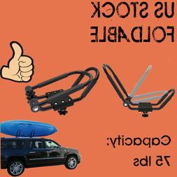 folding Universal Kayak Car Roof Rack J-Bar Canoe Top Mount