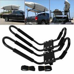 2 Kayak Carrier Boat SUV Canoe Surf Ski Snowboard Roof Mount