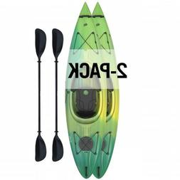 Lifetime 2 Pack Emotion Tide 10' Sit-In Kayak  - Lemongrass