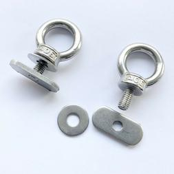 2 Pack Stainless Steel Track Mount Kayak Tie Down Eyelet for
