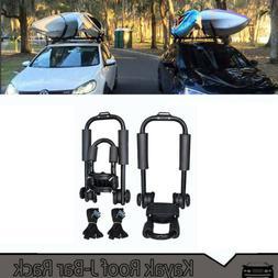 2 Pair Top Mount Carrier J Bar Boat Kayak Roof Rack Car SUV