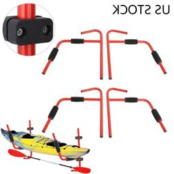 2 Pairs Kayak Ladder Wall Mount Storage Rack Surfboard Canoe