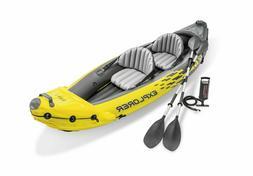 Intex 2 Person Explorer K2 Inflatable Kayak w/ Aluminum Oars