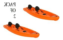 "2 Person Tandem Kayak Two Sit On Top Seats 10'-6"" HDPE Plast"