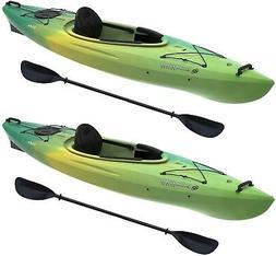 2 Pk. Emotion Tide 10 ft Kayak Lemongrass Lightweight Heavyd