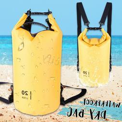 20L PVC Waterproof Dry Bag Sack Ocean Pack Camping Floating