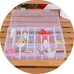 25 Compartments Plastic Storage Box Plastic Transparent Disp