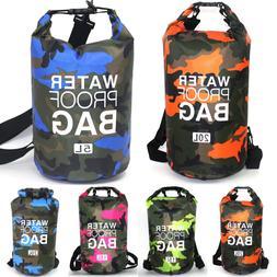 2L 5L 10L 15L Waterproof Dry Bag Storage Sack Pouch Hiking C