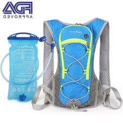 2L Unisex Sports Camping Hydration Backpack Pack Running Rid