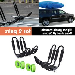 2Pair J Bar Kayak Ski Snowboard Wakeboard Paddleboard Car To
