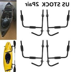 2Pair Steel Kayak Canoe Arms Storage Wall Mount Folding Hang