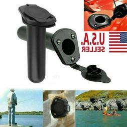 2pc Plastic Flush Mount Fishing Boat Rod Holder/ Cap Cover f