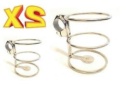 2pc STAINLESS STEEL DRINK CUP HOLDER RAIL MOUNT FISHING BOAT