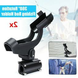 2Pcs 360° Adjustable Boat Fishing Rod Holder Tackle Kit For