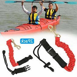 2pcs Adjustable Flexible Safety Rod Paddle Lanyard Fishing L