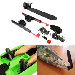 2Pcs Adjustable Kayak Foot Braces Pedals & Tail Rudder Direc