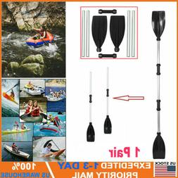 2Pcs Detachable Kayak Paddles Boat Oars Aluminium Alloy Ligh