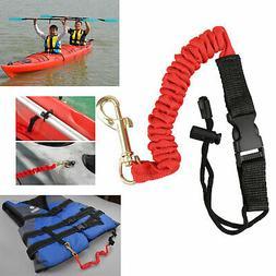 2 Pack Safety Paddle Leash Kayak Canoe Fishing Rod Coil Lany