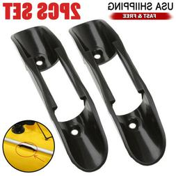 2PCS Kayak Marine Boat Paddle Clip Holder Watercraft Black P