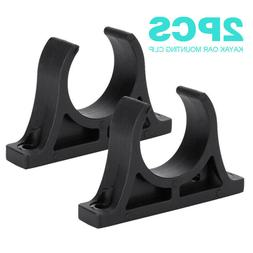 2PCS Plastic Kayak Marine Boat Paddle Holder Mount Clips Wat