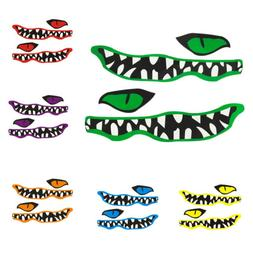 2pcs River Monster Teeth Boat Decal Vinyl Graphics Stickers