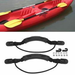 2ps Kayak Canoe Boat Side Mount Carry Handle With Bungee Cor