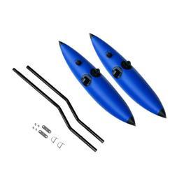 2x Blue PVC Kayak Canoe Fishing Outrigger Stabilizer Buoy &