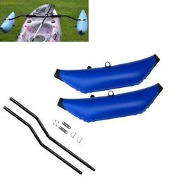 2x Deluxe PVC Kayak Boat SUP Outrigger / Stabilizer & 1 Set