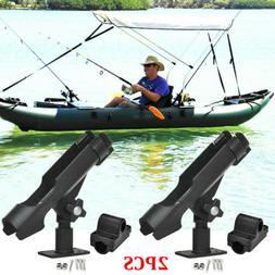 2X For Kayak Boat Fishing Pole Rod Holder Tackle Kit Adjusta