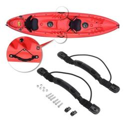 2x Kayak Boat Side Mount Handle Carry Handle Bungee Cord Scr