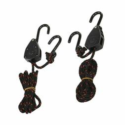 2x Ratchet Kayak Boat Bow and Stern Nylon Tie Downs Adjustab