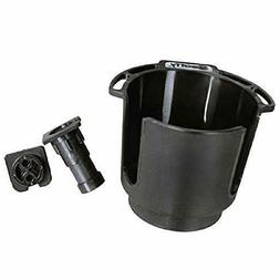 Scotty #311-BK Cup Holder with Rod Holder Post and Bulkhead