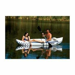 SEA EAGLE 330 Deluxe 2 Person Inflatable Kayak Canoe w/ Padd