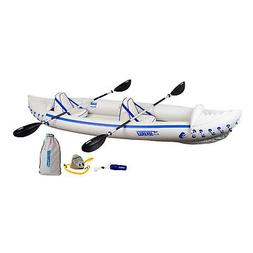 Sea Eagle 370 Pro 3 Person Inflatable Portable Sport Kayak C