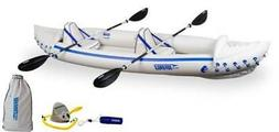 SEA EAGLE 370 Pro 3 Person Inflatable Kayak Canoe Boat w/ Pa