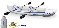Sea Eagle 370 Pro 3 Person Inflatable Kayak Canoe Boat w/ Pa