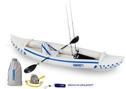 Sea Eagle 370 Sport Fishing Package Kayak Paddle Seat Pump S