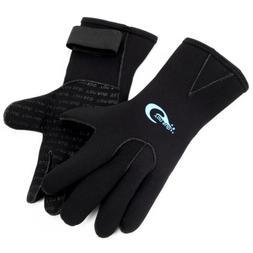 3mm neoprene wetsuit gloves kayak diving swimming