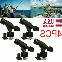 4 Adjustable Side Rail Mount For Kayak Boat Fishing Pole Rod