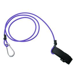 "41"" Purple Kayak Canoe Boat Paddle Fishing Rod Leash Holder"