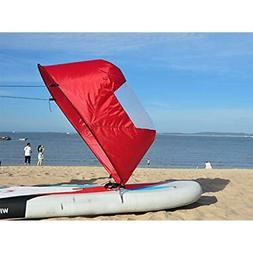 "42"" Foldable Downwind Wind Paddle Popup Board For Canoe Kaya"