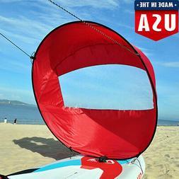 "42"" Foldable Kayak Canoe Boat Wind Sail Paddle Board Sailing"